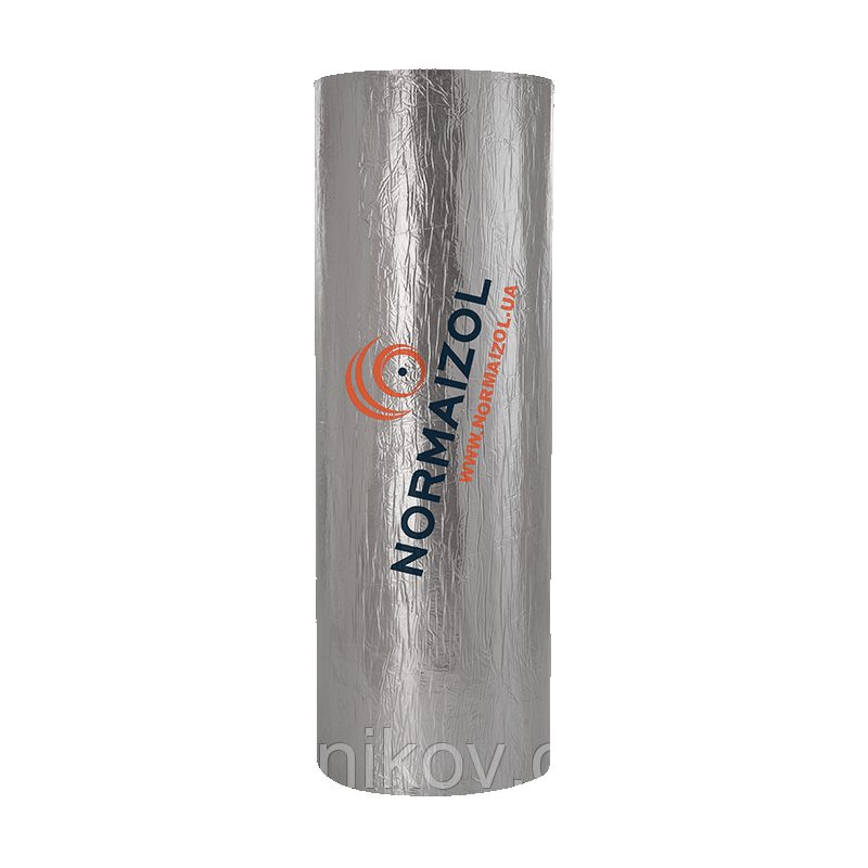 Алюфом® RC синтетический каучук с высокоадгезивной клеящей основою и покрытием из алюминиевой фольги 16 мм.