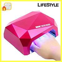 УФ лампа для нарощування нігтів на 36 Вт Beauty nail CCF + Led сенсор гель-лак + Подарунок!, фото 1