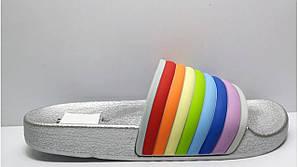 Женские шлепанцы Rainbow SILVER
