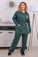 Женский спортивный костюм большого размера Квин изумрут (54-68), фото 1
