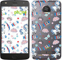 "Чехол на Motorola Moto Z2 Play Единорожки 2 ""4715u-1001-535"""
