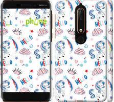 """Чехол на Nokia 6.1 Единорожки 2 """"4715c-1628-535"""""""