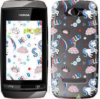 "Чехол на Nokia Asha 305 / 306 Единорожки 2 ""4715u-248-535"""
