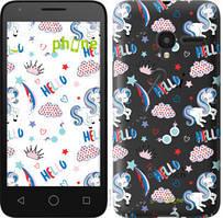 "Чехол на Alcatel One Touch Pixi 3 4.5 Единорожки 2 ""4715u-408-535"""