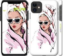 """Чохол на iPhone 11 Дівчина в окулярах 2 """"4714c-1722-535"""""""
