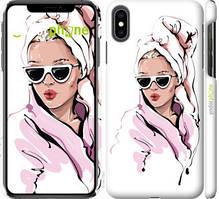 """Чехол на iPhone XS Max Девушка в очках 2 """"4714c-1557-535"""""""