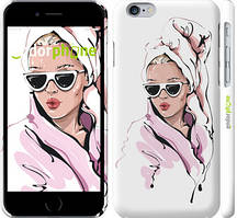 """Чохол на iPhone 6 Дівчина в окулярах 2 """"4714c-45-535"""""""