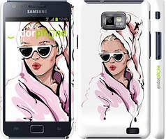 """Чохол на Samsung Galaxy S2 Plus i9105 Дівчина в окулярах 2 """"4714c-71-535"""""""