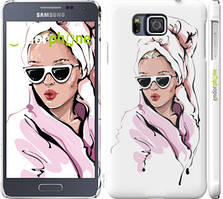 "Чохол на Samsung Galaxy Alpha G850F Дівчина в окулярах 2 ""4714c-65-535"""
