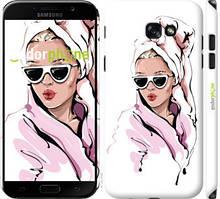 """Чехол на Samsung Galaxy A7 (2017) Девушка в очках 2 """"4714c-445-535"""""""
