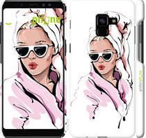 "Чехол на Samsung Galaxy A8 Plus 2018 A730F Девушка в очках 2 ""4714c-1345-535"""