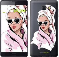 """Чехол на Samsung Galaxy C9 Pro Девушка в очках 2 """"4714u-720-535"""""""