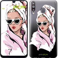"""Чехол на Samsung Galaxy M30 Девушка в очках 2 """"4714u-1682-535"""""""