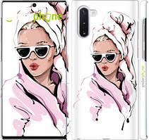 """Чехол на Samsung Galaxy Note 10 Девушка в очках 2 """"4714c-1718-535"""""""