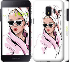 "Чехол на Samsung Galaxy J2 Core Девушка в очках 2 ""4714c-1565-535"""