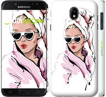 "Чехол на Samsung Galaxy J7 J730 (2017) Девушка в очках 2 ""4714c-786-535"""