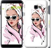 "Чехол на Samsung Galaxy J4 Plus 2018 Девушка в очках 2 ""4714c-1594-535"""