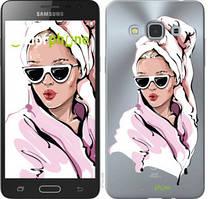 """Чехол на Samsung Galaxy J3 Pro Девушка в очках 2 """"4714u-840-535"""""""