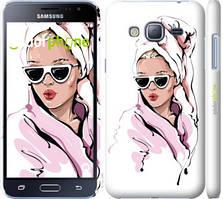 """Чехол на Samsung Galaxy J3 Duos (2016) J320H Девушка в очках 2 """"4714c-265-535"""""""