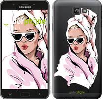 """Чехол на Samsung Galaxy J7 Prime Девушка в очках 2 """"4714u-610-535"""""""