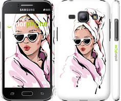 """Чехол на Samsung Galaxy J1 J100H Девушка в очках 2 """"4714c-104-535"""""""
