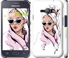 """Чохол на Samsung Galaxy J1 Ace J110H Дівчина в окулярах 2 """"4714c-215-535"""""""
