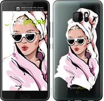 """Чехол на HTC U Ultra Девушка в очках 2 """"4714u-833-535"""""""