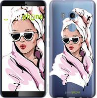 """Чехол на HTC U11 Plus Девушка в очках 2 """"4714u-1363-535"""""""
