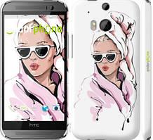 "Чохол на HTC One M8 dual sim Дівчина в окулярах 2 ""4714c-55-535"""