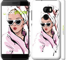 "Чехол на HTC One X10 Девушка в очках 2 ""4714c-995-535"""