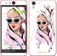 "Чехол на HTC Desire Eye Девушка в очках 2 ""4714u-470-535"""