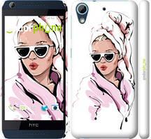 """Чехол на HTC Desire 628 Dual Sim Девушка в очках 2 """"4714c-949-535"""""""