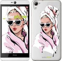 """Чехол на HTC Desire 826 dual sim Девушка в очках 2 """"4714u-312-535"""""""
