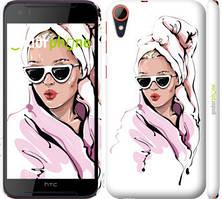"""Чехол на HTC Desire 830 Девушка в очках 2 """"4714c-785-535"""""""