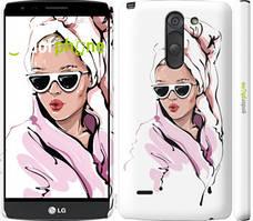 "Чехол на LG G3 Stylus D690 Девушка в очках 2 ""4714c-89-535"""