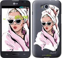 """Чохол на LG L90 Dual D410 Дівчина в окулярах 2 """"4714u-202-535"""""""