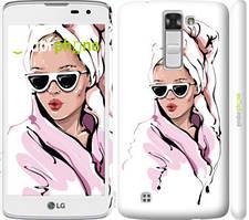 """Чохол на LG K8 K350E Дівчина в окулярах 2 """"4714c-297-535"""""""