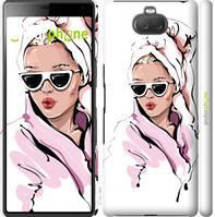 """Чехол на Sony Xperia 10 I4113 Девушка в очках 2 """"4714c-1688-535"""""""