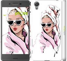 "Чехол на Sony Xperia X F5122 Девушка в очках 2 ""4714c-446-535"""