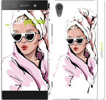 "Чехол на Sony Xperia XA1 G3112 Девушка в очках 2 ""4714c-964-535"""