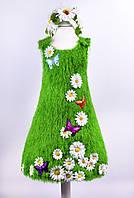 Карнавальный костюм зеленой травки с ромашками, костюм Весны для девочки (прокат)