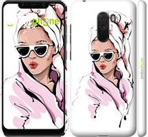 """Чехол на Xiaomi Pocophone F1 Девушка в очках 2 """"4714c-1556-535"""""""