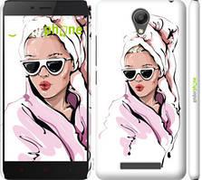 "Чехол на Xiaomi Redmi Note 2 Девушка в очках 2 ""4714c-96-535"""