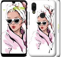 """Чехол на Xiaomi Redmi 7 Девушка в очках 2 """"4714c-1669-535"""""""