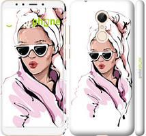 """Чехол на Xiaomi Redmi 5 Девушка в очках 2 """"4714c-1350-535"""""""