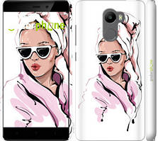 """Чехол на Xiaomi Redmi 4 Девушка в очках 2 """"4714c-417-535"""""""
