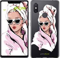 """Чехол на Xiaomi Mi8 SE Девушка в очках 2 """"4714u-1504-535"""""""