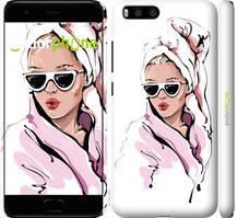 """Чехол на Xiaomi Mi6 Девушка в очках 2 """"4714c-965-535"""""""
