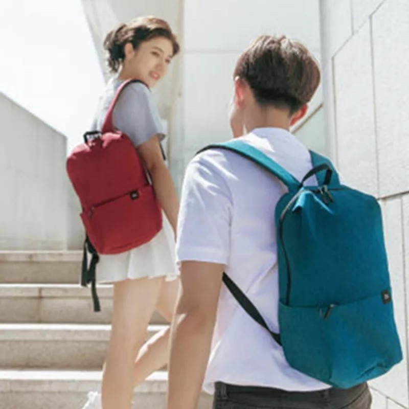 Оригинальный рюкзак Xiaomi Mi Colorful 10L бордовый (темно-красный) водонепроницаемый (оригинал) сумка