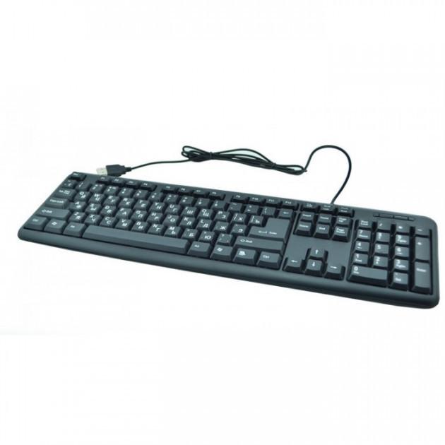 Проводная клавиатура USB для ПК ноутбука 104 клавиши UKС TC-01 Черная